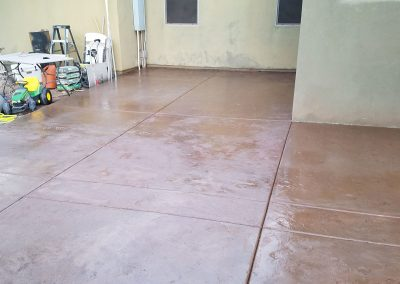 Before image of Concrete paver sealing