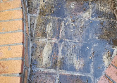 Brick before cleaning