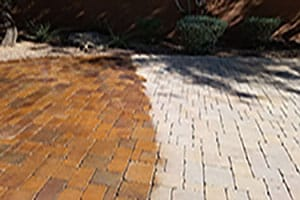 Concrete Paver Sealing Before & After