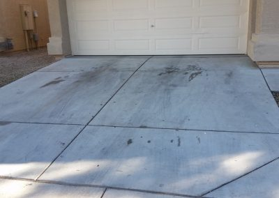 Dennis Prangley before washing driveway