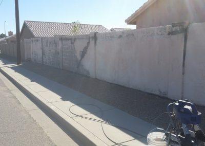 wall after power washing, Dakota Power Washing